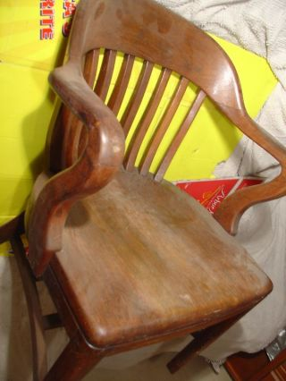 Vintage Court House Wood Chair Sikes Collectible Old Desk Chair Antique Decor photo