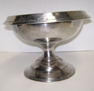 Antique Simpson,  Hall & Miller Treble Plate Pedestal Bowl (1866) photo