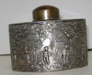 1850 - 1899 Barbour Silver Co.  Silver Plate Tea Caddy photo