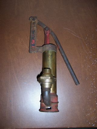 Vtg Brass Boat Bilge Pump photo