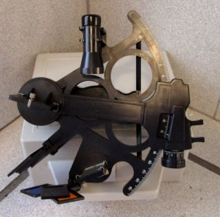 Ship Navigation Usa Mark 25 Mk25 Mk - 25 Davis Sextant + Celestrial Training Dvd photo