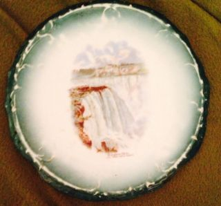 Vintage Tea Tile Of Niagra Falls Made In Austria photo
