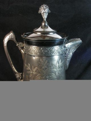 Southington Cutlery Silver Triple Plated Ice Water Pitcher 300 Circa 1890 photo