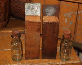 Pr Antique Scientific Laboratory Wooden Apothecary Boxes Pharmacy Glass Bottles photo