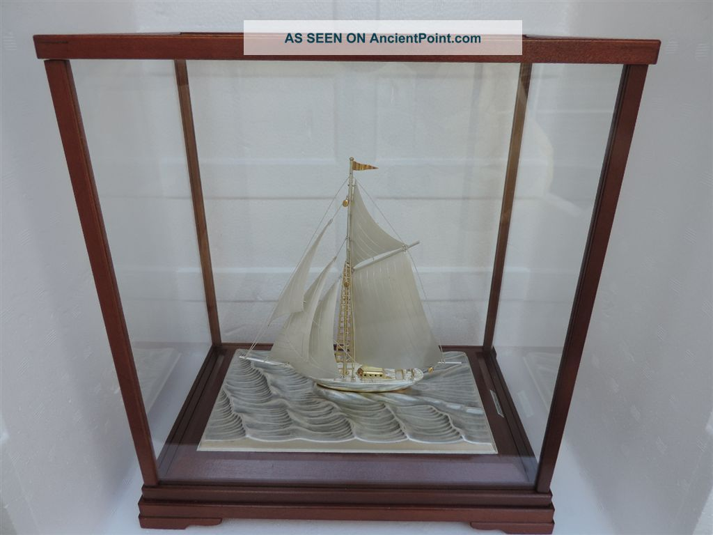 Stunning Vintage Signed Japanese Sterling Silver 985 Takehiko Ship W Box & Paper Other photo