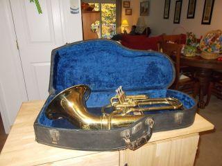 Antique Elkhart Tuba Horn Bilt By Buescher 1926 - 1930 photo