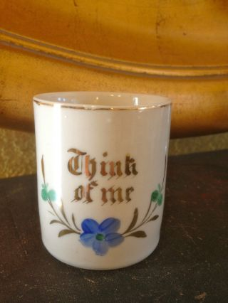 Antique Victorian Motto Cup Think Of Me photo