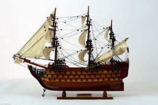 Queen Anne ' S Revenge - Handmade Wooden Model Ship New photo