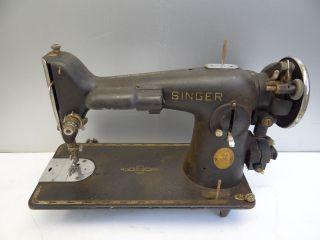 Antique Old Broken Metal Black Singer Af152089 Electric Cabinet Sewing Machine photo