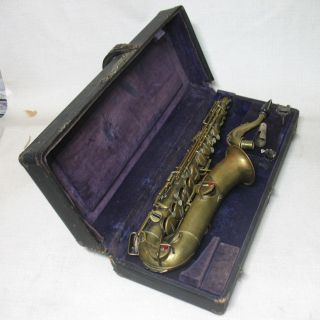 Antique Peter Edwards Co Boston Mass C Melody Sax Saxophone Low Pitch Buescher photo