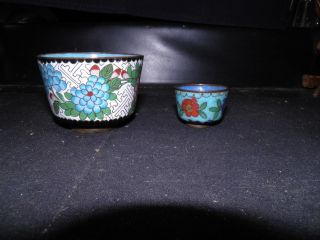 Antique Chinese Cloisonne Enamel Cups 1800 ' S Cloisonne Cups photo