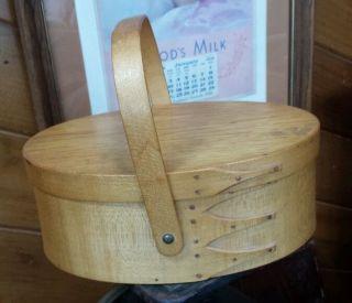 Maple Wood Shaker Bentwood Sewing Box Signed Mariah photo