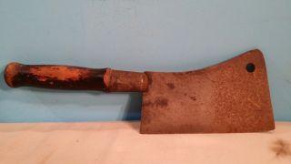 Excellent Antique Meat Cleaver 12 1/4