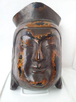 Antique Japanese Kwannon Mask photo