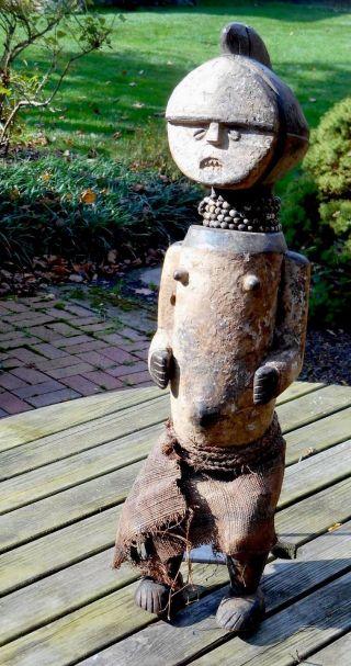 Rare,  Powerful Ambete Reliquary Figure,  Gabon (female) photo