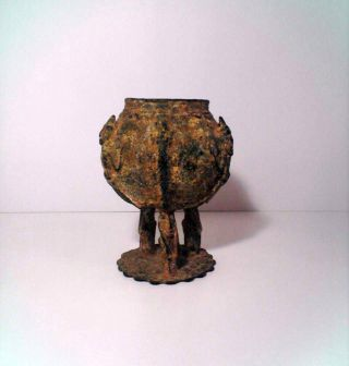 Antique 1800 ' S A.  D.  African Bronze Dogon Ceremonial Tribe Vessel photo