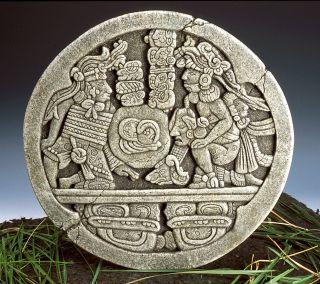 Full Size Museum Copy Of Mayan Ballcourt Marker From Copan Ruins Guatemala 700ad photo