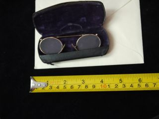 Antique Spectacles Pince Nez,  Lorgnette With Case photo