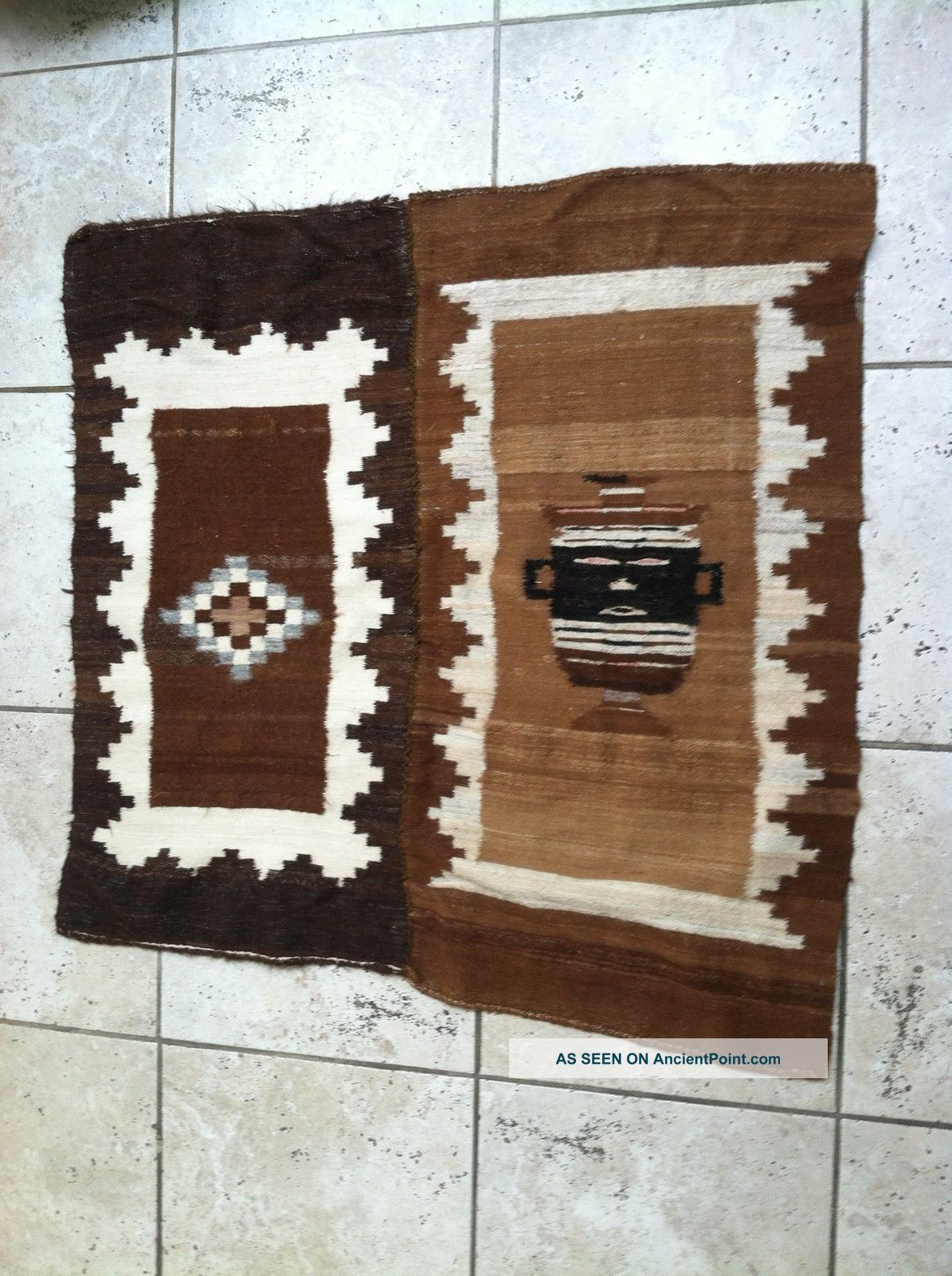 Antique Hand Made Wool Native American Indian Carpet Native American photo