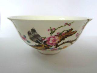 Chinese Porcelian Pot Bowls Ceramic Glaze Magpies Flowers Qianlong Old 23 photo