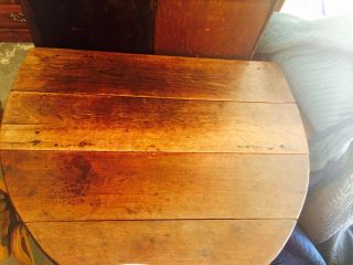 Drop Leaf Oak Barley Twist Gate Leg Table Antique 1800 ' S photo