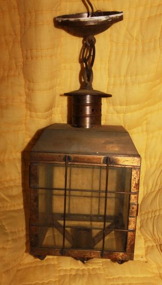 Copper Nautical Ship Cottage Wall Light Lamp Outdoor Nulco Mfg Co.  Pawtucket Ri photo