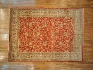 Area Rug,  10 ' X 14 ' Hand Knotted Fine Pak Persian 300 Kpsi Rug Rb8724 photo