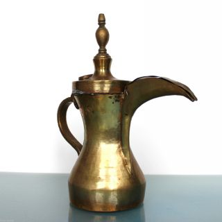 Dallah Coffee Marked Pot Arabic Islamic Antique Jug Ewer Persian photo