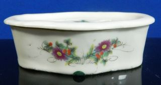 Antique Chinese Hand Painted Porcelain Brush Pot 1800 - 1849 photo