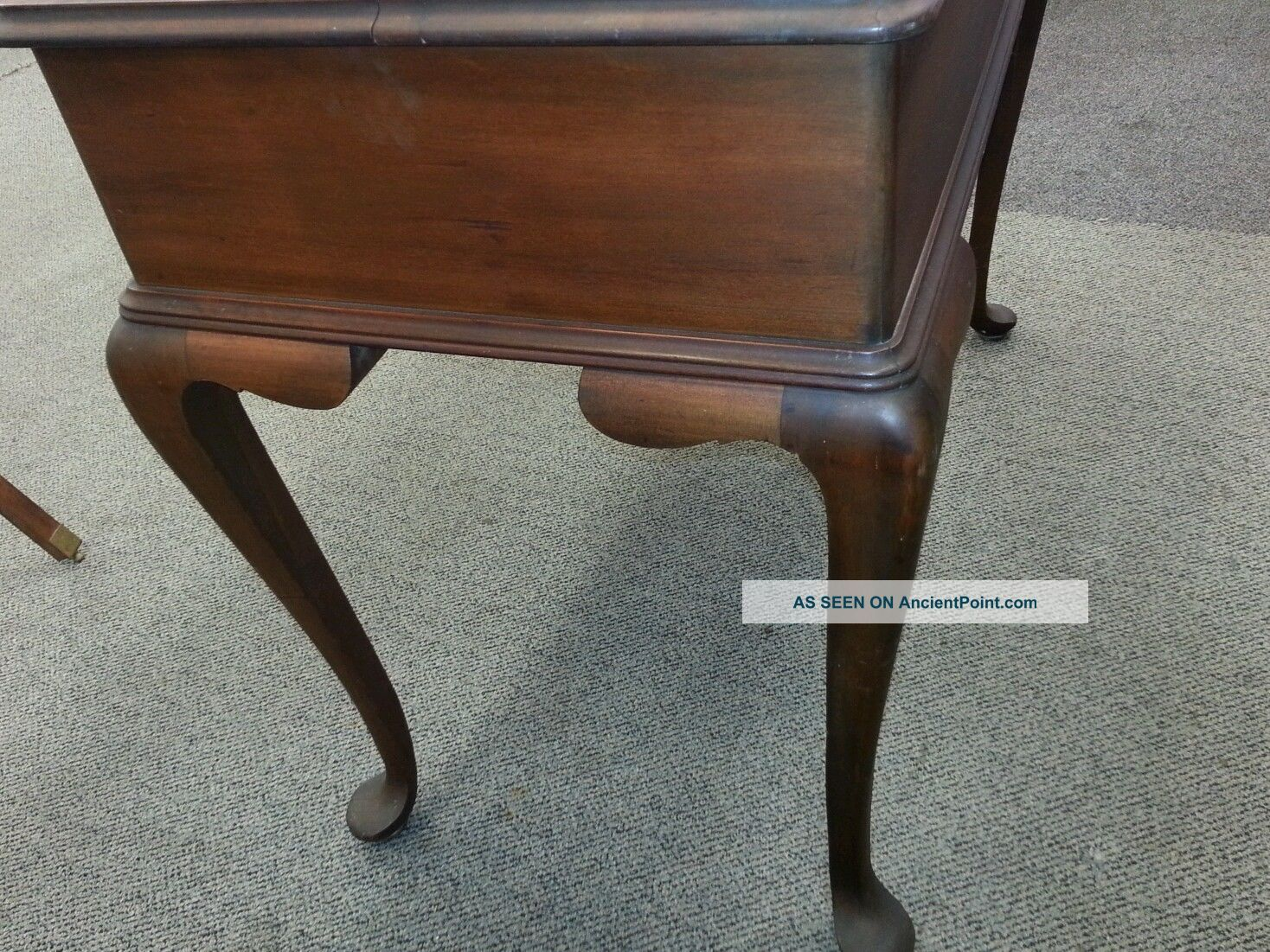 Marvelous photograph of  Queen Anne Style Flip Top Cabriole Leg Writing Desk 1800 1899 photo 5 with #603E2C color and 1468x1101 pixels