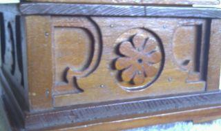 Vintage Folkart Wood Box S/n 1932 photo