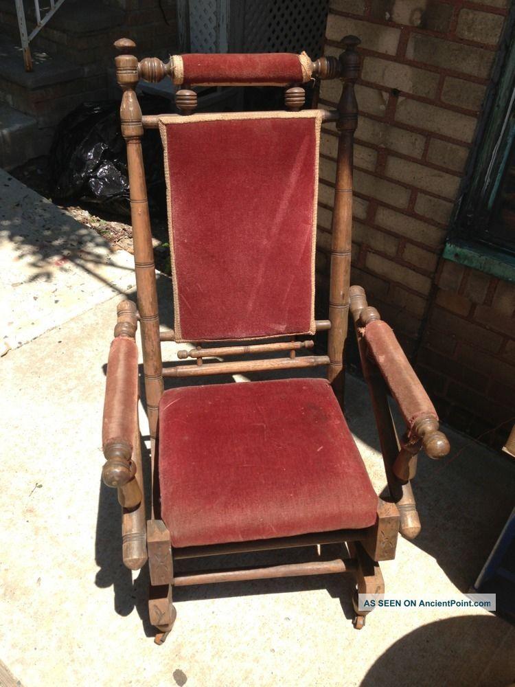 Antique Vintage Platform Rocker, Spring Rocking Chair Primitive Steampunk  Era - Antique Vintage Platform Rocker, Spring Rocking Chair Primitive