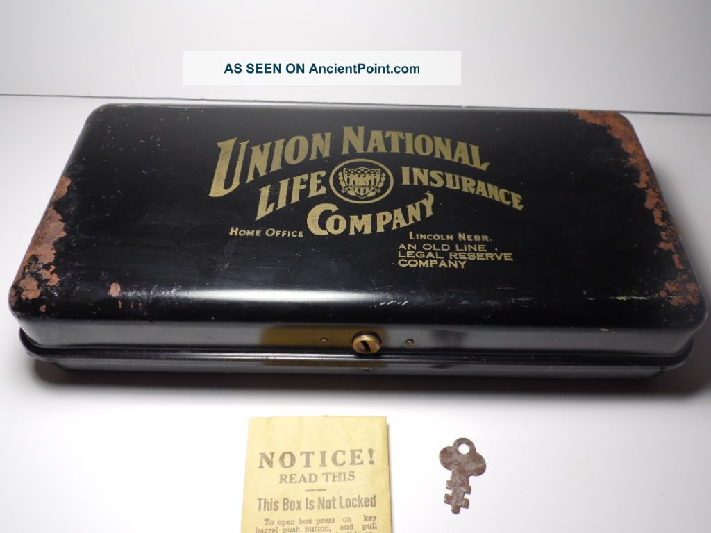 Antique 1910s Union National Life Insurance Company Advertising Lock ...