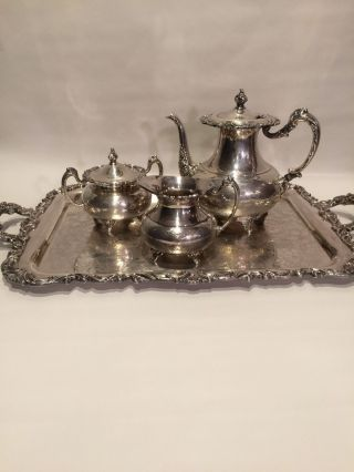 Ascot Sheffield Design Reproduction By Community 4 Piece Silverplate Coffee Set photo