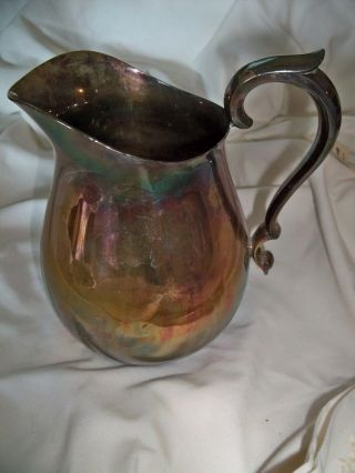 Reed & Barton Silver Plate Pitcher - Heavy - Vgd (jm) photo