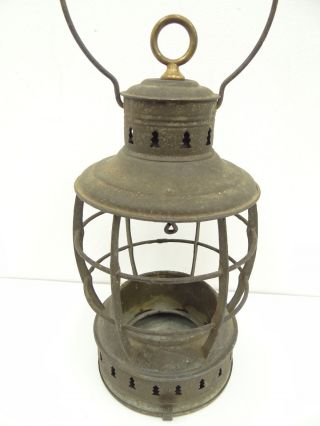 Antique Old Perkins Lifeboat Ships Nautical Maritime Lantern Cage Body Parts photo