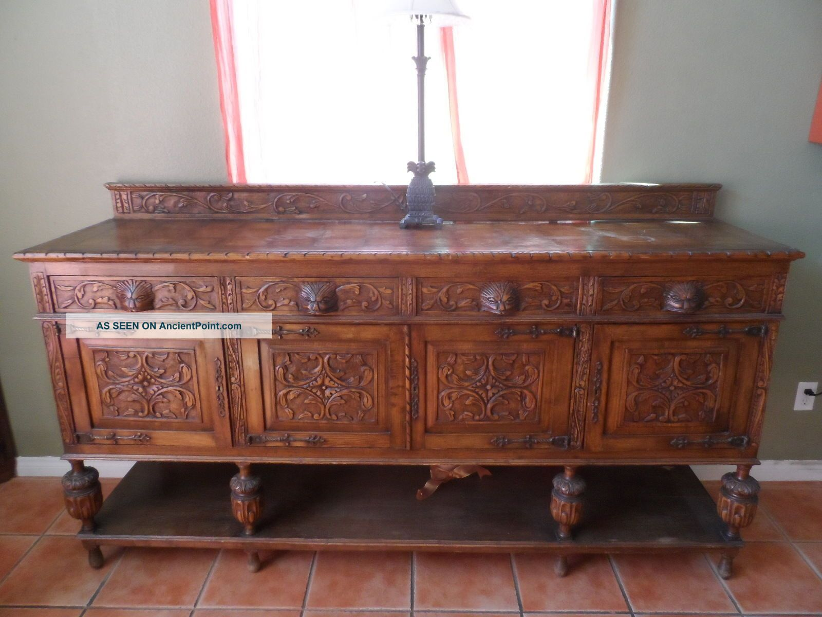 French Renaissance Gothic Buffet And Server 1800-1899 photo