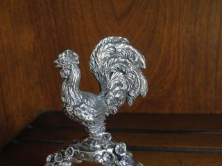 Reed & Barton Silverplate 1824 Collection Napkin Ring - Rooster photo