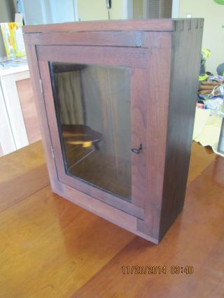 Walnut Dovetailed Hanging Cupboard Or Display Case photo