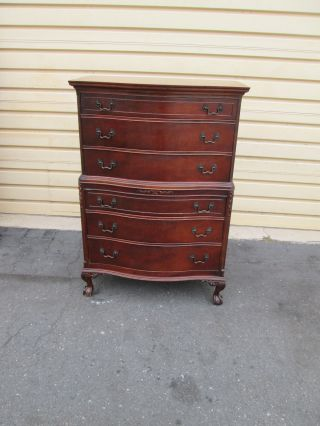 54440 Antique Mahogany High Chest Dresser photo