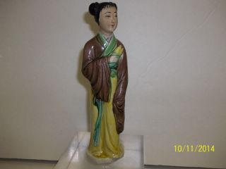 "Antique Chinese Figurine Statue Late 19th Early 20th Century 7 ¼"" Marked Maker photo"