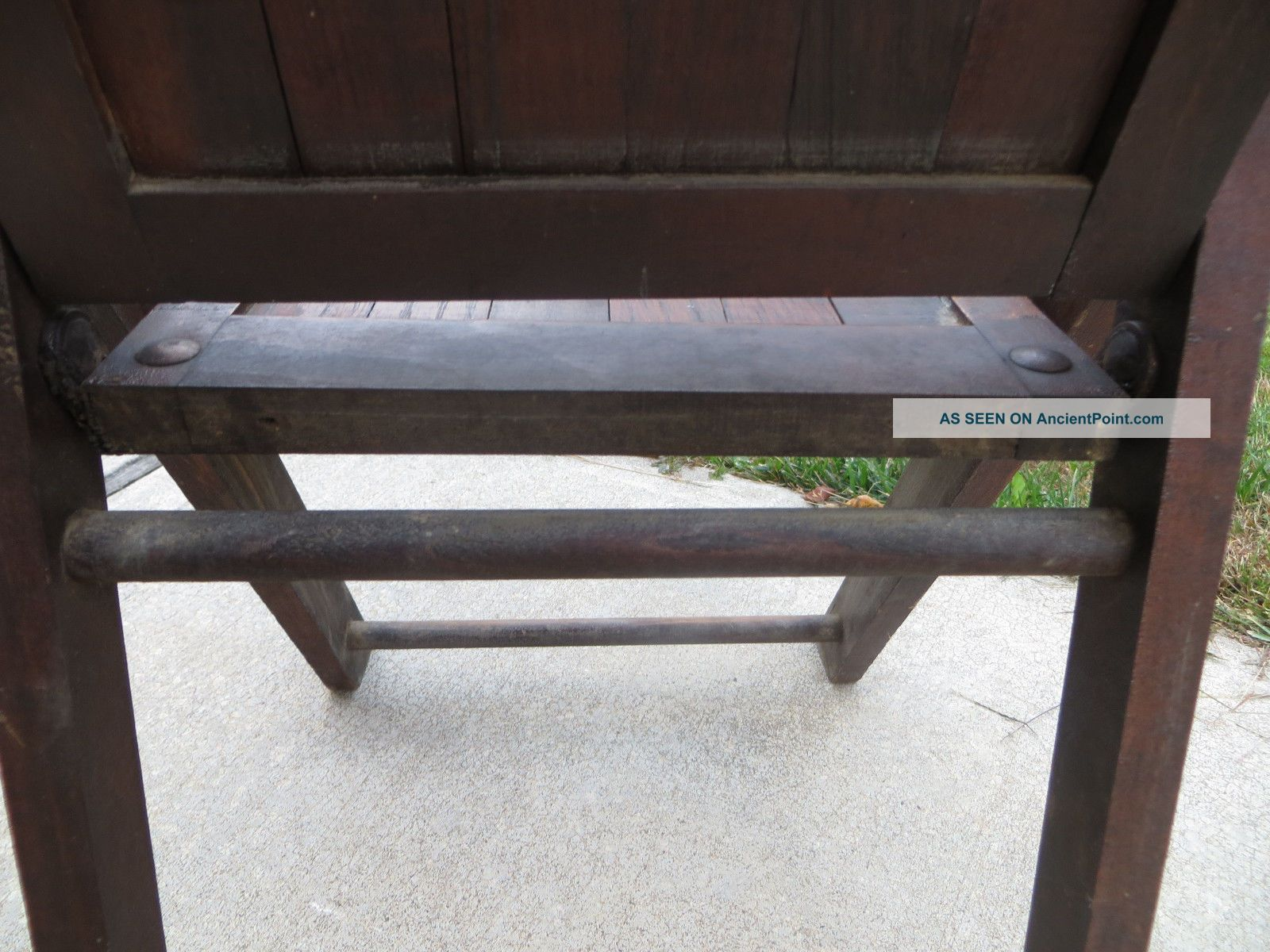 Antique Wood Slat Folding Chair