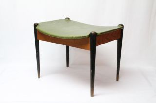 Mid Century Danish Style Ottoman Foot Stool Or Bench photo