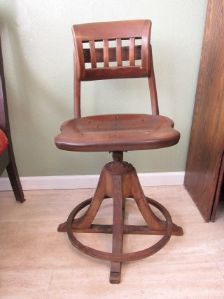 Sikes Vintage Switchboard Operator Chair Rare Industrial Factory Loft Stool B photo