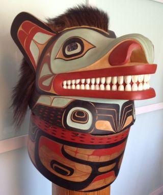Northwest Indian Bear Mask By Duane Pasco photo