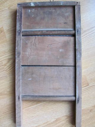 Antique Sm Scrub Board Columbus Washboard Co 46 Kansas City,  Mo Tiffin Ohio Usa photo