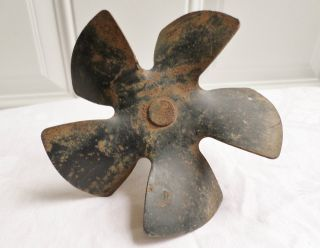 Antique Vintage Metal Industrial Machine Age Fan Part Salvaged Repurpose photo
