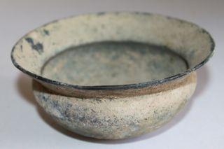 Ancient Roman Bronze Bowl 1/2nd Century Ad photo
