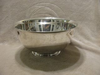 Reed And Barton Large Silver Plated Bowl photo