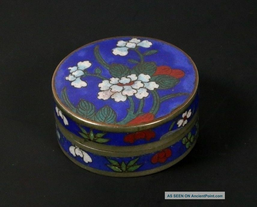 Chinese Antique Cloisonne Enamel Box Famille Rose Flowers And Sealed Boxes photo